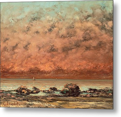 The Black Rocks At Trouville Metal Print