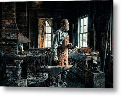 The Blacksmith - Smith Metal Print by Gary Heller