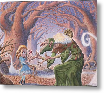 The Blind Witch Metal Print by Richard Moore