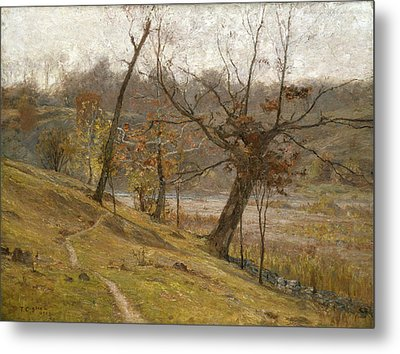 The Bloom Of The Grape Metal Print by Theodore Clement Steele