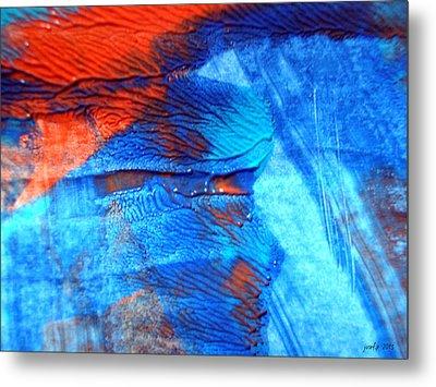 The Blue And Red Affair Acryl Knights Metal Print by Sir Josef - Social Critic -  Maha Art