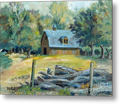 The Blue Barn Metal Print by William Reed