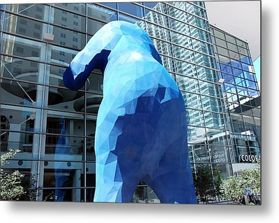 The Blue Bear Metal Print