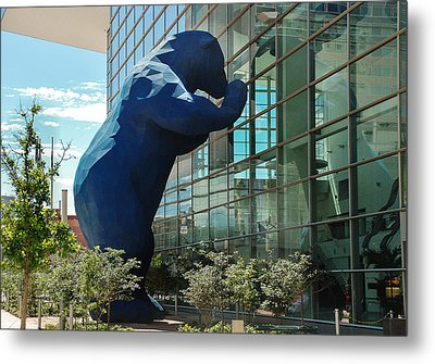 The Blue Bear  Metal Print by Dany Lison