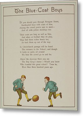 The Blue-coat Boys Metal Print by British Library