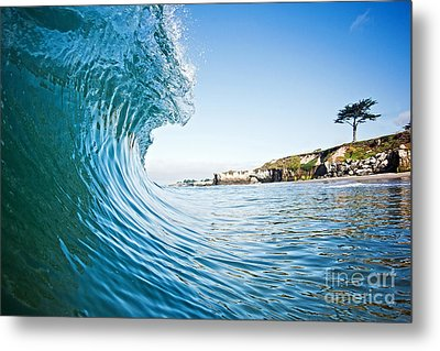 Metal Print featuring the photograph The Blue Curl by Paul Topp