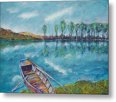 The Blue Danube Is Turquoise Metal Print