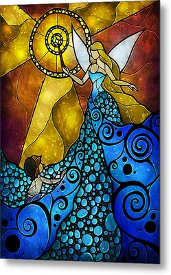 The Blue Fairy Metal Print by Mandie Manzano