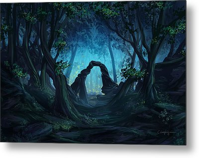 The Blue Forest Metal Print by Cassiopeia Art