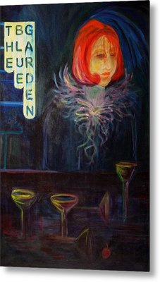 The Blue Garden Metal Print by Carolyn LeGrand