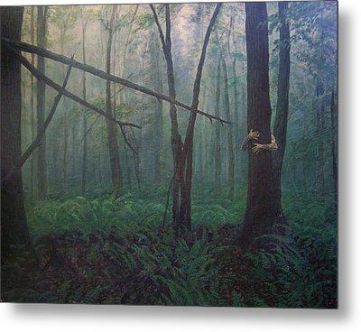 The Blue-green Forest Metal Print by Derek Van Derven
