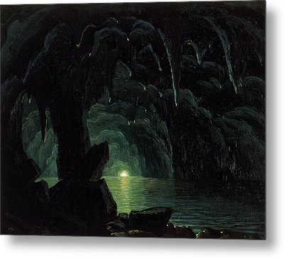 The Blue Grotto Metal Print by Albert Bierstadt