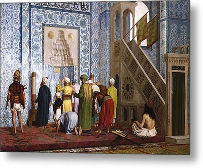 The Blue Mosque Metal Print by Jean Leon Gerome