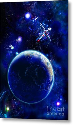 The Blue Planet Seas Of Life Metal Print by Boon Mee