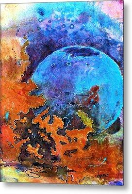 The Blue Sphere Metal Print by JAXINE Cummins