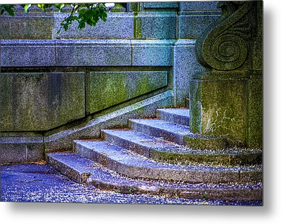 The Blue Stairs Metal Print