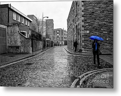 The Blue Umbrella - Sc Metal Print by Mary Carol Story