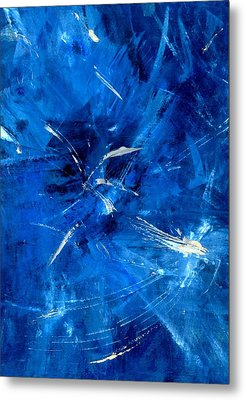 Metal Print featuring the painting The Blues by Carolyn Repka