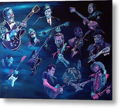The Blues Metal Print by Kathleen Kelly Thompson