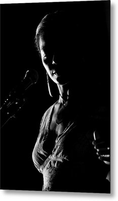The Blues Singer Metal Print by Goyo Ambrosio
