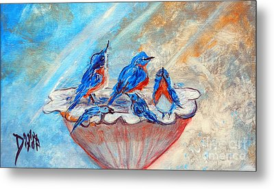 Metal Print featuring the painting The Blues by Donna Dixon