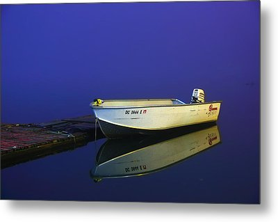 The Boat In The Fog Metal Print