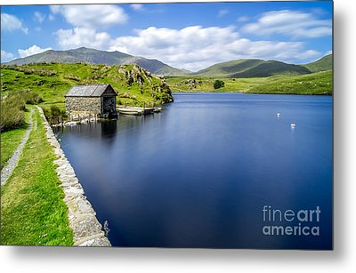 The Boathouse Metal Print by Adrian Evans
