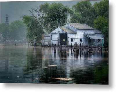 The Boathouse Metal Print by Bill Wakeley