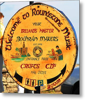 The Bodhran Makers Metal Print by Charlie and Norma Brock