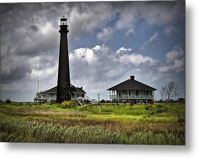 The Bolivar Lighthouse Metal Print by Linda Unger
