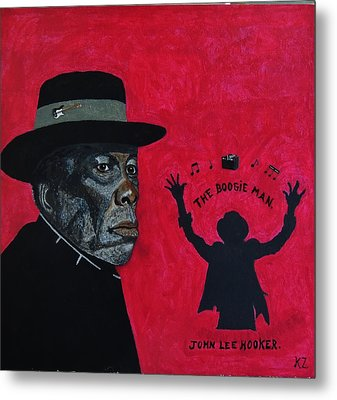 The Boogie Man.john Lee Hooker. Metal Print by Ken Zabel