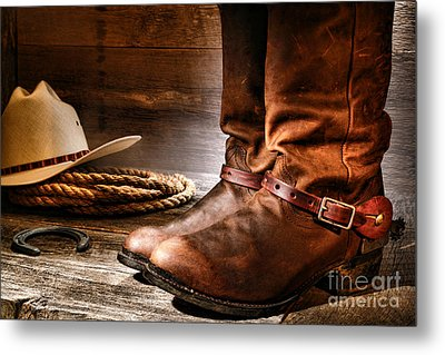 The Boots Metal Print by Olivier Le Queinec