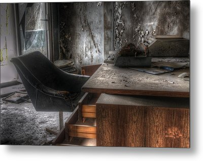 The Boss's Chair  Metal Print