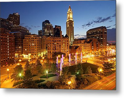 The Boston Rose F. Kennedy Greenway With Light Blades  Metal Print