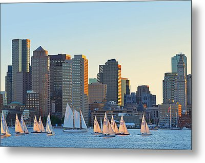 The Boston Skyline From East Boston Metal Print by Toby McGuire