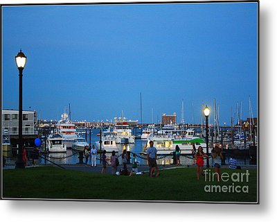 The Boston Wharf In The Early Evening Metal Print by Dora Sofia Caputo Photographic Art and Design