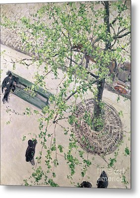 The Boulevard Viewed From Above Metal Print by Gustave Caillebotte