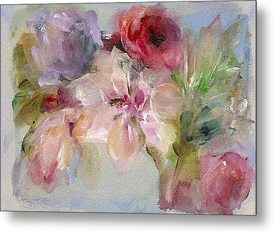 Metal Print featuring the painting The Bouquet by Mary Wolf