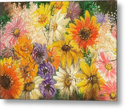 The Bouquet Metal Print by Sorin Apostolescu