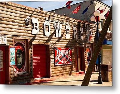 The Bowery Myrtle Beach Metal Print by Bob Pardue