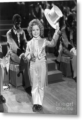 The Bowery Princess - Shirley Temple Metal Print by MMG Archives