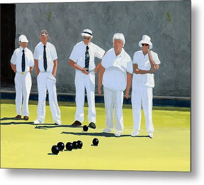 The Bowling Party Metal Print by Karyn Robinson