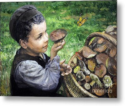 The Boy In The Woods Metal Print by Eugene Maksim