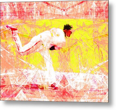The Boys Of Summer 5d28161 The Pitcher V3 Metal Print by Wingsdomain Art and Photography