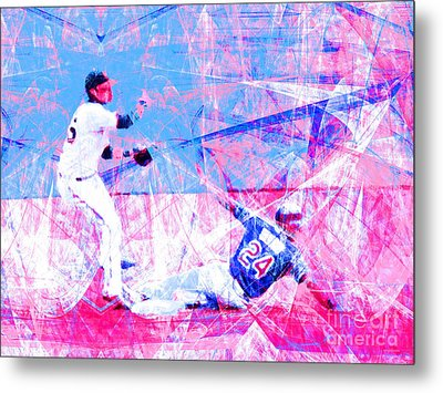 The Boys Of Summer 5d28208 The Double Play V2 Metal Print by Wingsdomain Art and Photography