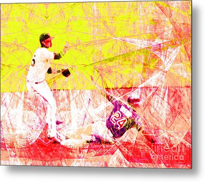 The Boys Of Summer 5d28208 The Double Play V3 Metal Print by Wingsdomain Art and Photography