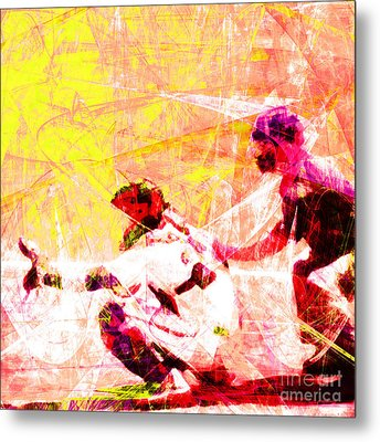 The Boys Of Summer 5d28228 The Catcher Square V2 Metal Print by Wingsdomain Art and Photography