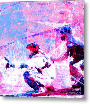 The Boys Of Summer 5d28228 The Catcher Square V3 Metal Print by Wingsdomain Art and Photography