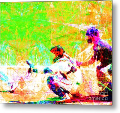 The Boys Of Summer 5d28228 The Catcher Metal Print by Wingsdomain Art and Photography