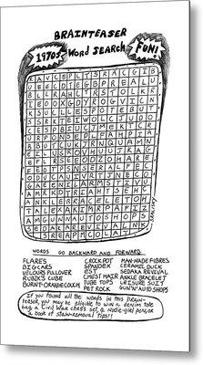 The Brainteaser Word Search Metal Print